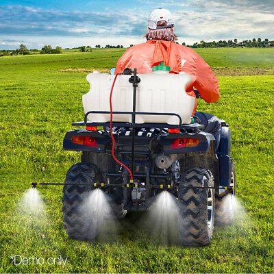 NEW 100L ATV WEED SPRAYER SPOT BOOM SPRAY TANKS Chemical Garden Farm Water Pump