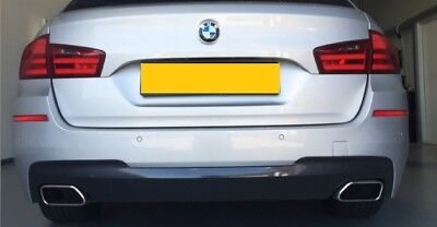 BMW F10 F11 550i dual style exhaust & diffuser installed fitted, for 535i 535d