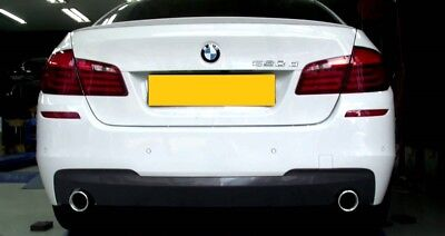 BMW F10 F11 535i 535d dual style exhaust & diffuser installed fitted