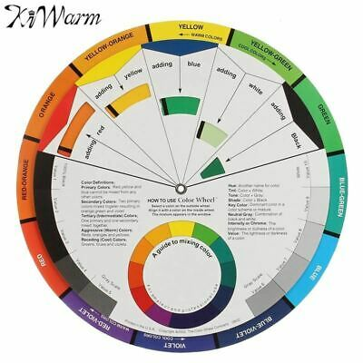 Large Artists Colour Card Wheel Swatches Mixing Colour Guide Makeup Micro Pigmen