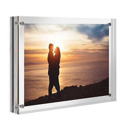 Cruoda Acrylic Photo Frame 4x6 Magnetic Picture Frames Double