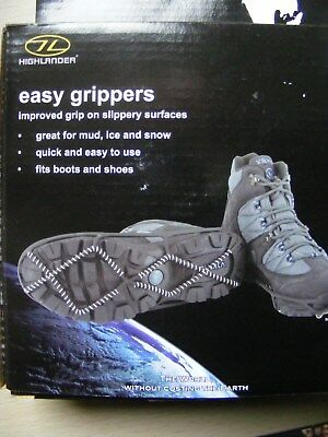 Highlander Easy Ice & Snow Grippers for shoes & boots - small/medium