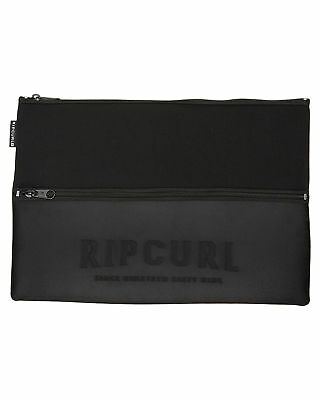 New Rip Curl X Large Pencil Case Pu Neoprene Gifts Black