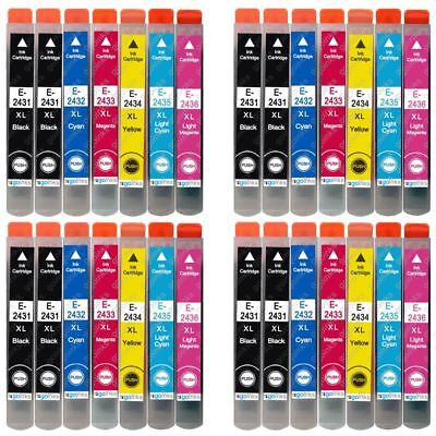 28 Ink Cartridges (Set+Bk) for Expression Photo XP-55 XP-760 XP-860 XP-960
