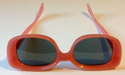 VINTAGE Mid Century Hot Pink Sunglases West Germany