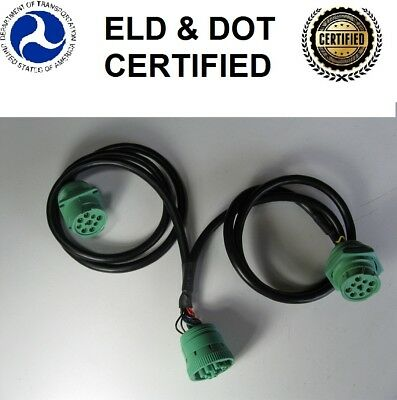 """ZED 36"""" Y-Cable for J1939 9-Pin (Green Connectors Only)"""