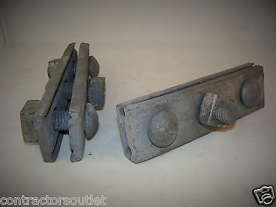 "New Overstock Joslyn 5/8"" 3 Bolt Galvanized Guy Clamp J931 (Lot of 25)"