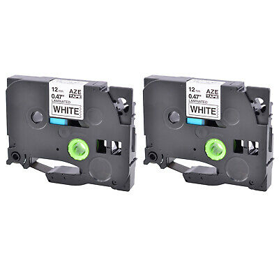 """2 PK Compatible for Brother P-touch Laminated Label Tape 12mm 1/2"""" PT-1900 P700"""