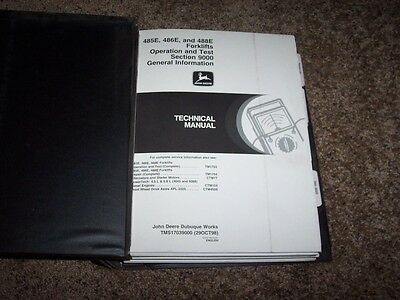john deere 482c forklift technical service shop repair manual book rh picclick com