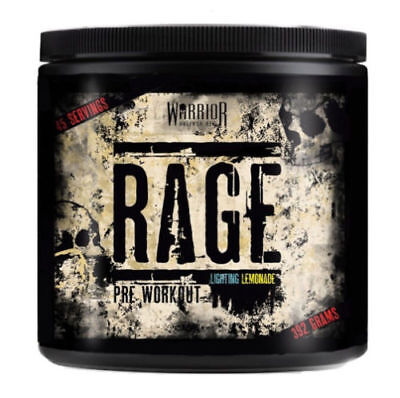Warrior Rage Pre Workout Energy Extreme 392g - 45 Servings!! STRONG PUMP