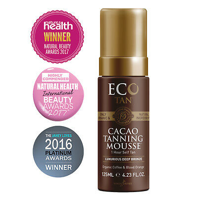 Free Postage - Cacao Self Tanning Mousse By Eco Tan - Vegan - Natural - Organic