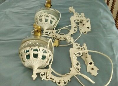 Vintage Cast iron wall sconces