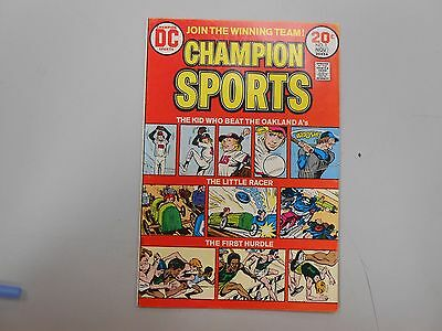 Champion Sports #1! (1973, DC)! FN/VF7.0+! nice bronze age sports comic! LOOK!