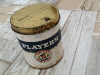 "Ancienne boite de 50 cigarettes plein"" Player's Navy cut ""collection uniquement"