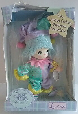 Soft Plush Clown Doll Colorful Toy L.E. Precious Moments Mint Boxed Luv n'