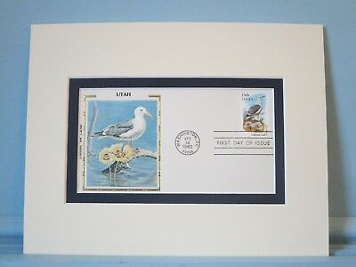 State Bird & Flower of Utah - the California Gull & Sego Lily & First Day Cover