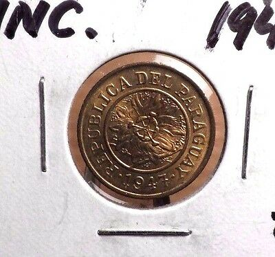 Uncirculated 1947 5 Centavos Paraguay Coin (82316)