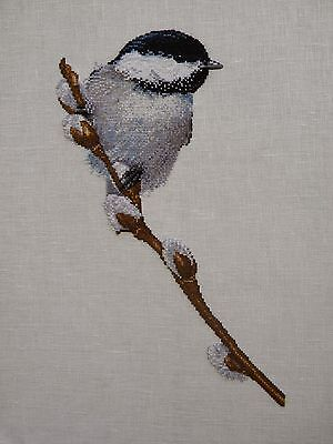 Bird on Pussywillow - Cross Stitch Chart - Free Postage