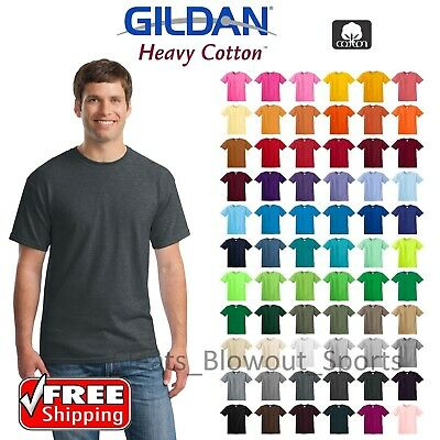 Gildan Mens T-Shirts Plain Solid Cotton Short Sleeve Blank Tee Top Colors G500