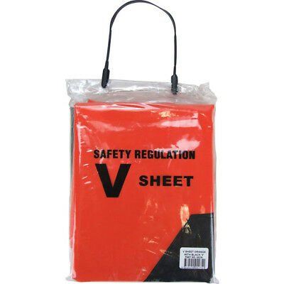 V-Sheet Boat Marine Safety Distress V Sheet Regulation Orange 1.8M x 2M