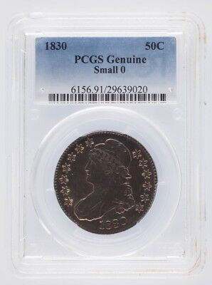 1830 Silver Small 0 Capped Bust Half Dollar 50C PCGS Graded Genuine