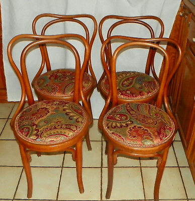 Set of 4 Bent Maple Dinette Chairs / Sidechairs by Heywood Wakefield  (DC15)