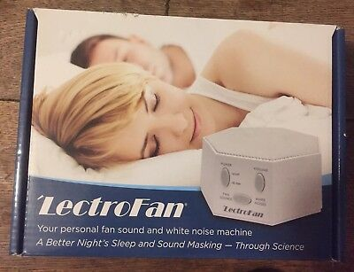 LectroFan ASM-1007-WR, White Noise and Fan Sound Machine - White, NEW