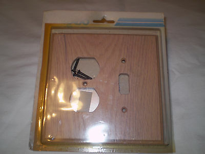 Geniune Solid Bleached Oak Single Light Switch Plate Outet Cover Combo