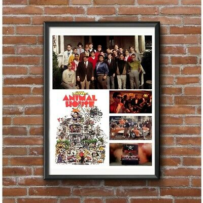 Animal House Movie Tribute Collage Poster - John Belushi Wacky Comedy