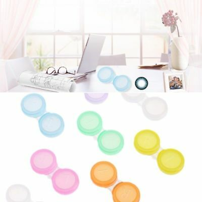 10Pcs contact lens L+R cases Storage Holder Soaking Container Travel Accessaries