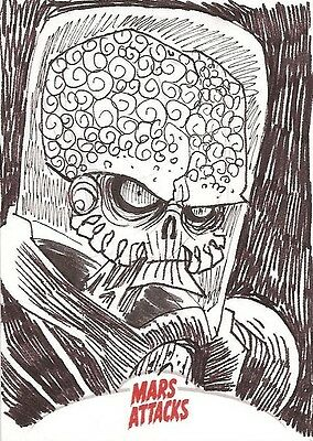 2013 Topps Mars Attacks INVASION sketch card by Jeremy Treece