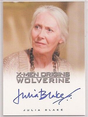 X-Men Origins Wolverine Autograph Card Auto Julia Blake as Heather Hudson