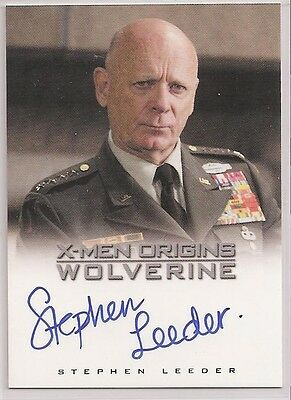 X-Men Origins Wolverine Autograph Card Auto Stephen Leeder as General Munson