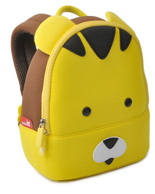 Yellow Tiger Kids Toddler Backpack Cute Kindergarten Children Cartoon Schoolbags