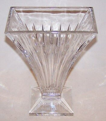 "Stunning Large Signed Waterford Crystal Clarion Art Deco Style 9 7/8"" Vase"