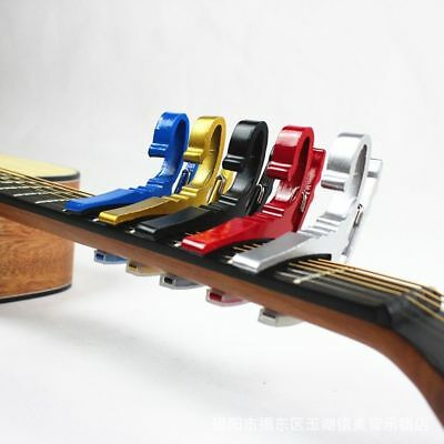 Folk Acoustic Electric Tune Quick Change Trigger Guitar Capo Key Clamp Hot