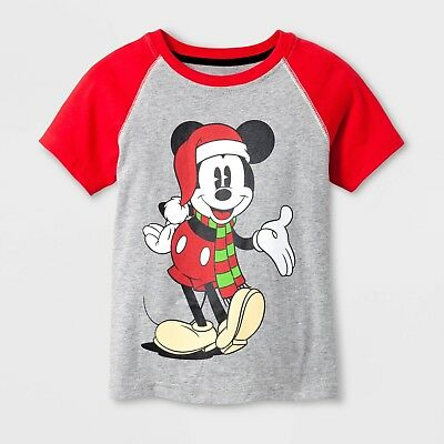 0921dcc06ef Disney Mickey Mouse 18 Month Baby Toddler Boy Short-Sleeve Christmas T-Shirt