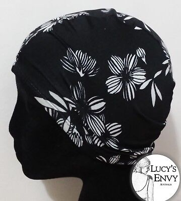 Adult Colorful Swim Cap Lycra Swimming Elastic Black White by Lucy's Envy T114