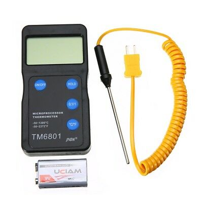 K Type High Temperature Digital Thermometer Pyrometer & Probe Set 1300°C 2327°F
