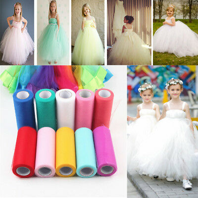 "6"" x 25 Yards Tutu Tulle Rolls Soft Nylon Netting Skirts Fabric Wedding Dresses"