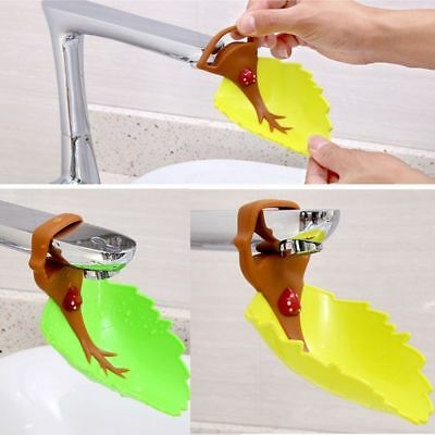 Design Hot Sell Faucet Extender Kids Washing Hands Bathroom Sink Leaf Shape