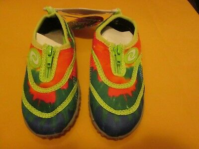 645afa3ce930 Frisky Kid s Water Shoes Green Multi Color New No Box Size 5