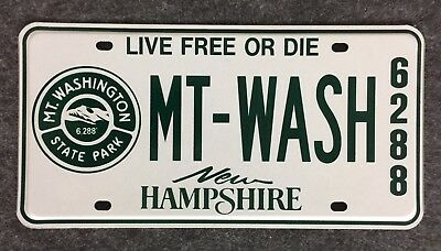 NEW HAMPSHIRE Mount Washington Booster License Plate Tag NH 6288 Feet