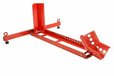 """Dragway Tools 1500 LB Adjustable Chock Cradle Stand for 35"""" Motorcycle Wheel"""