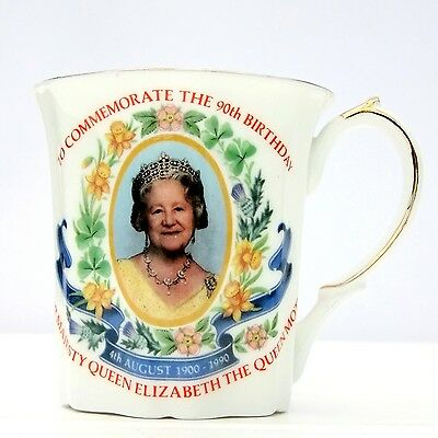 Ringtons Queen Elizabeth Mother 90th Birthday China Mug
