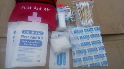 First aid kit, 1st aid pouch, belt loops, 38 pieces, ideal for walking, cycling