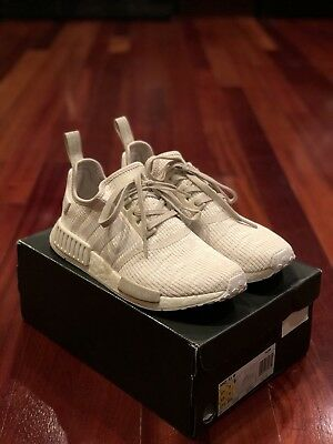 498893ac37e6d Adidas NMD R1 W Cream White Roller Knit CG2999 Women s Size 10.5   Men s 8.5