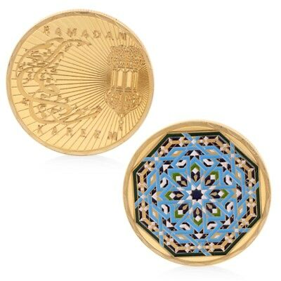 Golden Ramadan Kareem Commemorative Challenge Coin Collection Gift Souvenir