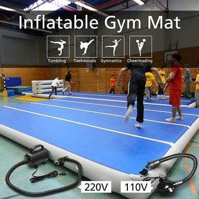 20FT Inflatable Gym Mat Air Track Floor Tumbling Gymnastic Cheerleading Pad+Pump