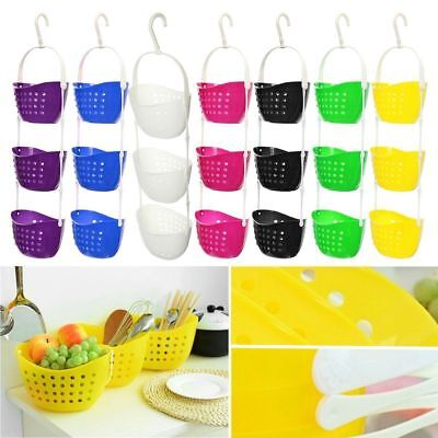 3 Tier Shower Caddy Bath Rack Plastic Hanging Over Basket Unit Shower Organiser